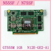N55SF VGA Graphic Card GT555M 1GB For ASUS N75SF N55S N55SF N75SL N75S N55SL GeForce N12E GE2 A1 Laptop Video Card board Tested