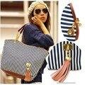 2017 New Fashion Canvas Shoulder Bags Women's Handbag Striped Messenger Bags B01