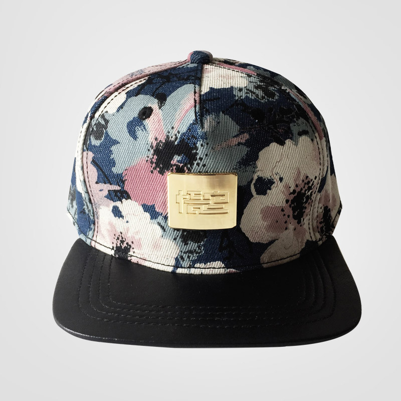 deep crown baseball caps high hats the new men women youth hip hop flower ink painting