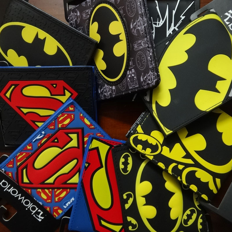 2017 New Designer Superman Batman Purse Comics DC Marvel Anime Logo Wallets Men Women Dollar Price Bags Leather PVC Short Wallet comics dc marvel dollar price wallets men women super hero anime purse creative gift fashion leather bags carteira masculina