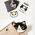 1 Pc Mini Portable Creative Pocket Mirror Multi-color Cat Shape Mirror (Random Pattern)