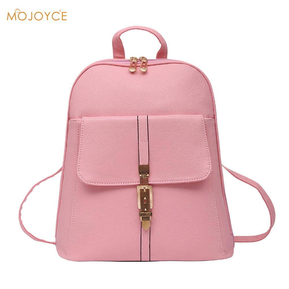 Women Backpack Solid Fashion School Bag For Teenage Girls High Quality PU Leather Preppy Style School Backpack mochila sac a dos women backpack mochila backpack for travel sac a dos korean style backpacks for teenage girls high quality bag gift for new year