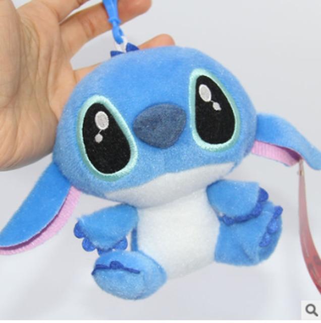 2019 nuevo Lilo Stitch juguetes de peluche muñecas con llavero de lechón suave relleno para niños regalos de bebé envío gratis