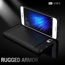 Xiaomi Mi 5 Case Silicon for Mi5 Cover Fundas Soft Carbon Fiber Brushe Coque Etui Capinha