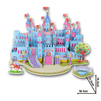 3D DIY Puzzle Jigsaw Baby toy Kid Early learning Castle Construction pattern gift For Children Brinquedo Educativo Houses Puzzle 4