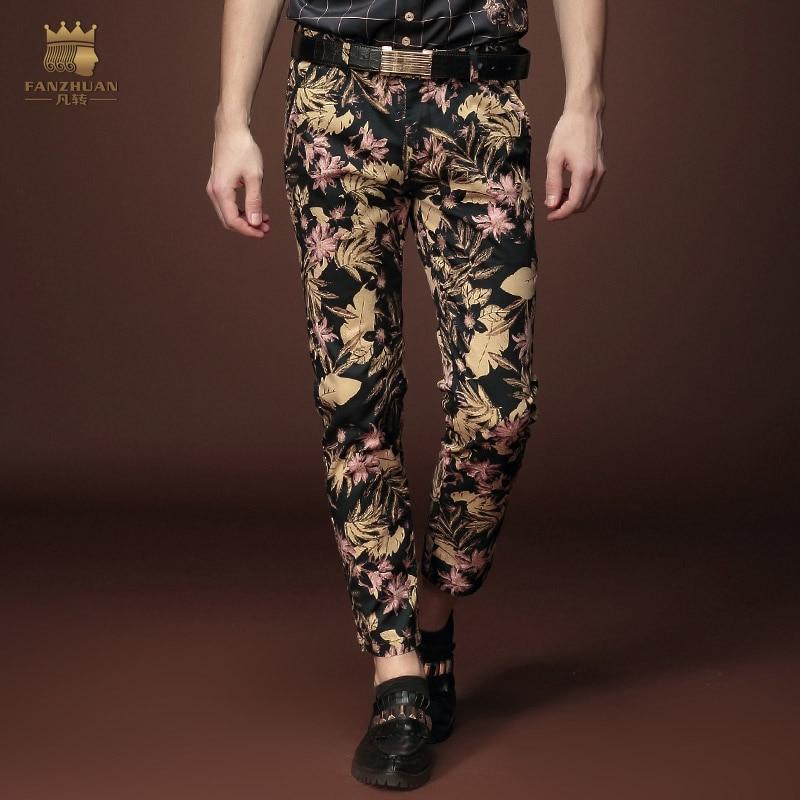 送料無料ファッションカジュアルメンズ男性新しい2015年男夏9ジーンズ人格スタンプ第9ズボンズボン15915発売中