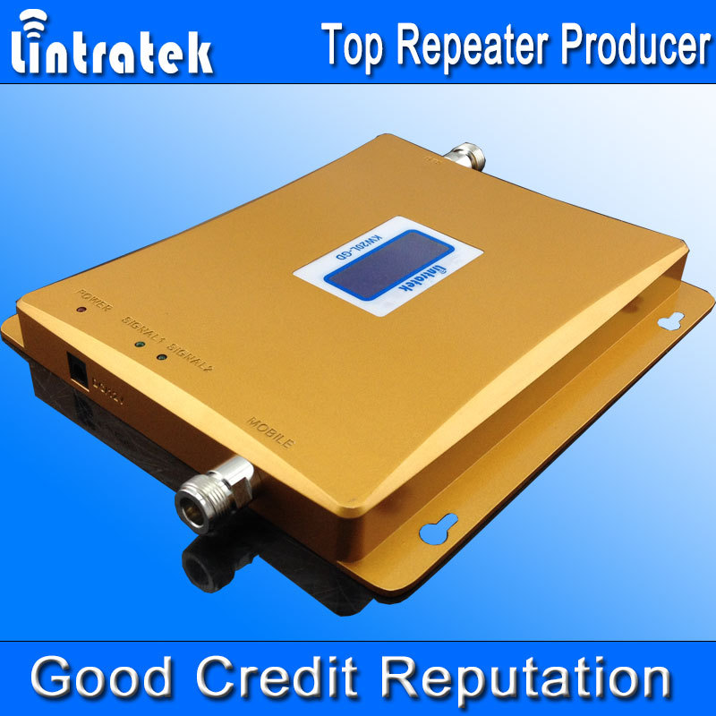 Lintratek LCD Display GSM 900 GSM 1800 Signal Repeater 4G 1800Mhz GSM 900Mhz Dual Band Cell