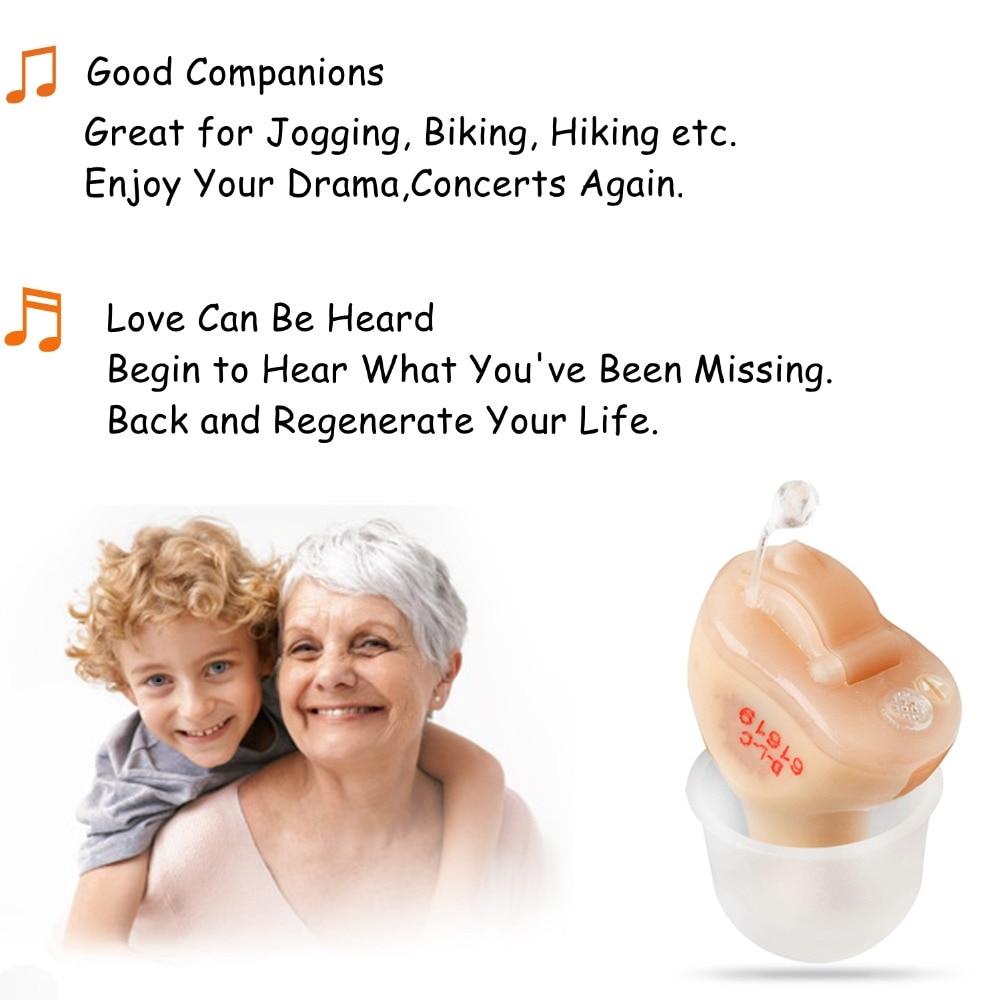 2PCS NEW CE FDA Small Iner Ear Osynligt hörselhjälpmedel CIC Mini - Sjukvård - Foto 5