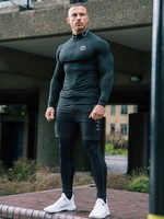 3Pcs Mens Sport Clothing Suit Men Running Set Jacket Basketball Football Tennis Fitness Tights Shorts Shirts Leggings Sportswear
