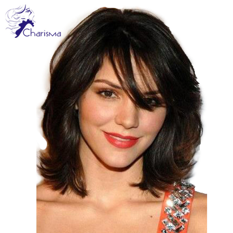 Popular Human Hair Wig Full Bangs Buy Cheap Human Hair Wig