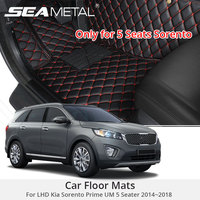 For LHD Kia Sorento Prime UM 5 Seater 2018 2017 2016 Car Floor Mats Custom Rugs Auto Interior Foot Mat Accessories Car styling