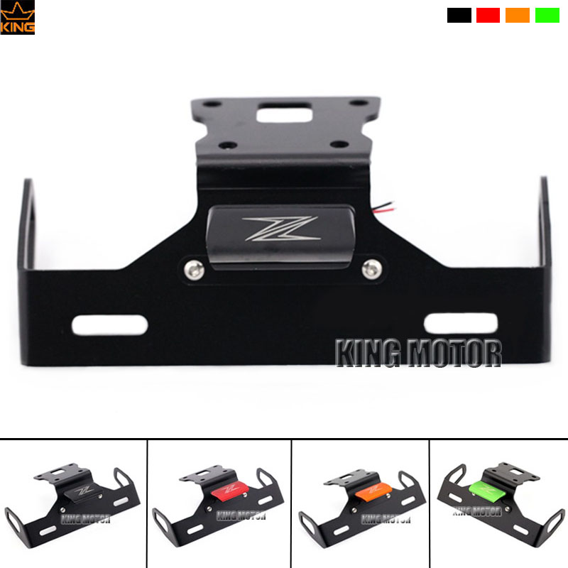 For KAWASAKI Z125 Motorcycle Accessories Tail Tidy Fender Eliminator Registration License Plate Holder Bracket LED Light Black motorcycle tail tidy fender eliminator registration license plate holder bracket led light for ducati panigale 899 free shipping