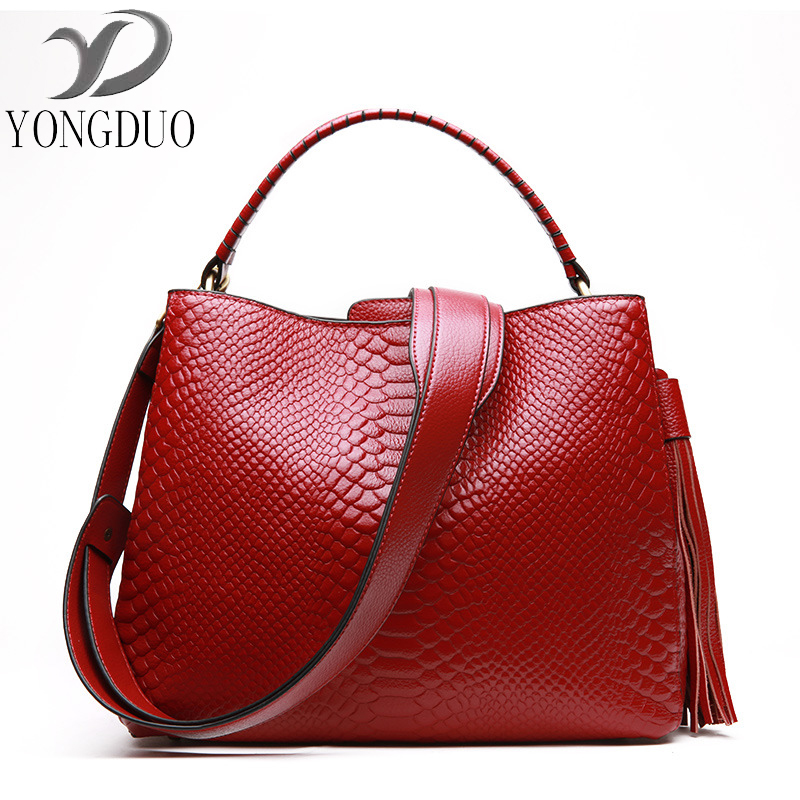 YONGDUO Hot Sale women handbag women messenger bags ladies new shoulder bag bolsas leather handbags Crocodile pattern tote bags hot sale tassel women bag leather handbags cross body shoulder bags fashion messenger bag women handbag bolsas femininas