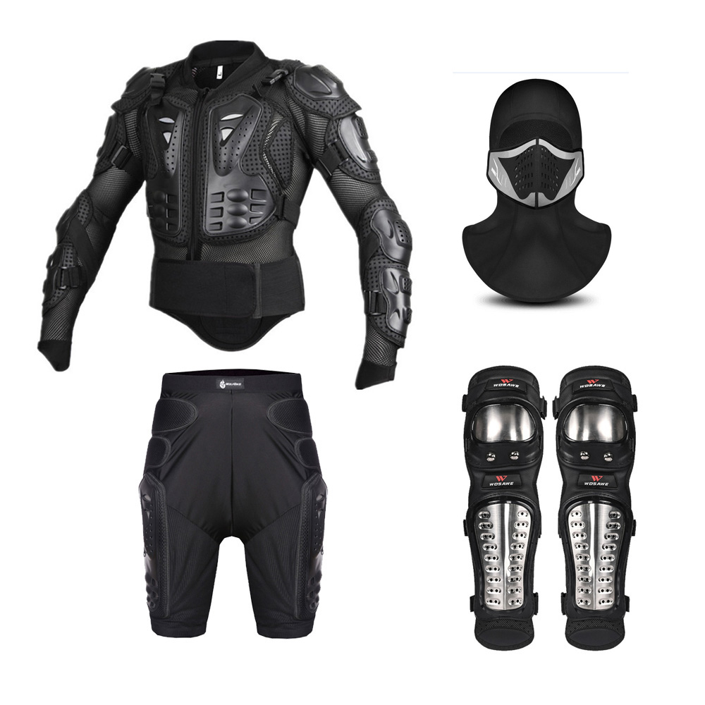 Motorcycle Jacket Men Full Body Motorcycle Armor Motocross Skiing Racing Protective Gear Protection Shorts Face mask