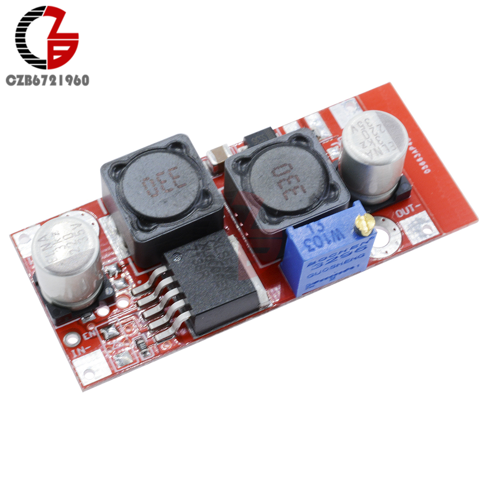 XL6009 Adjustable Boost Buck Converter DC-DC 5-<font><b>32V</b></font> to 1.2-35V Step Up Down Voltage Regulator Power <font><b>Transformer</b></font> Booster Module image