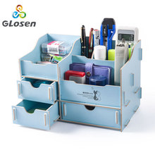 Magazine Organizer Multi-function DIY Cosmetic Desk accessories File Tray Bookends Holder Office Glosen
