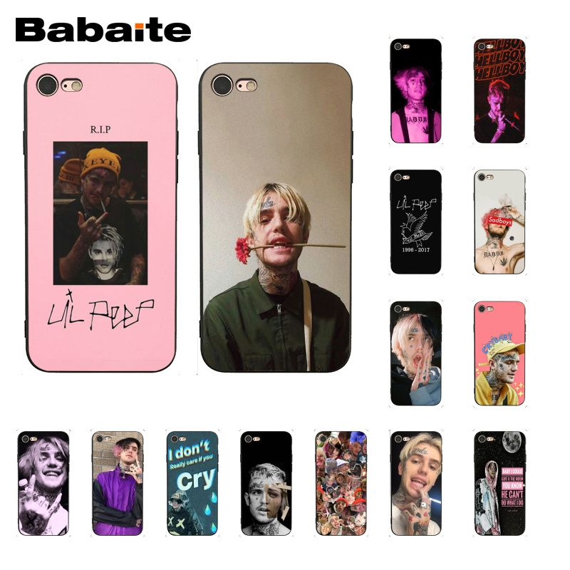 Babaite Tentacion <font><b>Lil</b></font> <font><b>Peep</b></font> <font><b>Lil</b></font> Bo <font><b>Peep</b></font> Phone <font><b>Case</b></font> Cover for <font><b>iphone</b></font> 11 Pro 11Pro Max <font><b>8</b></font> 7 6 6S Plus X XS MAX 5 5S SE XR image