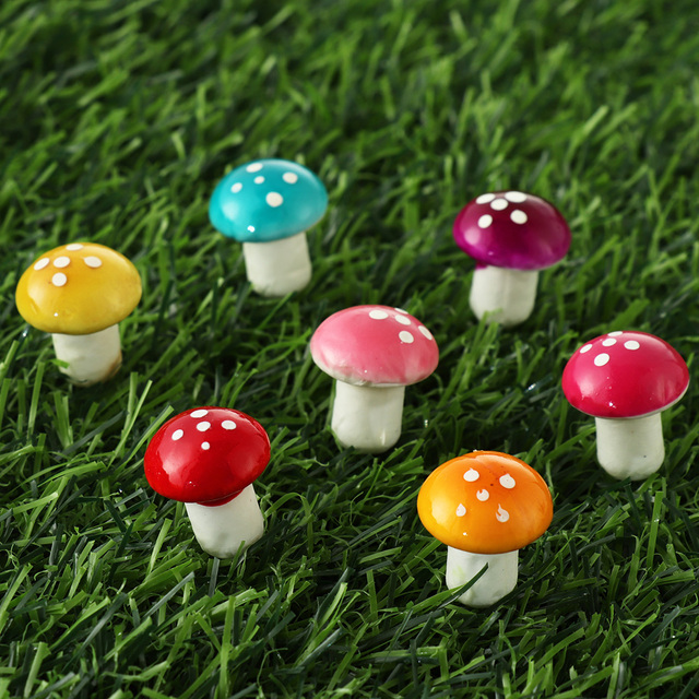 10/20pcs Miniature Artificial Foam Potted Plants Decor Mini Mushroom DIY Craft Home Garden Ornament Resin Crafts Moss Decoration 3