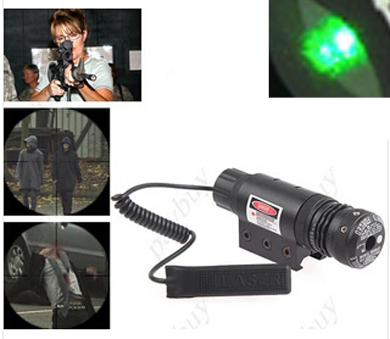 532nM 5nw Tactical Green Laser Sight Scope Tail Switch Airsoft Laser Hunting Riflescope Sight For Pistol Rifle Gun