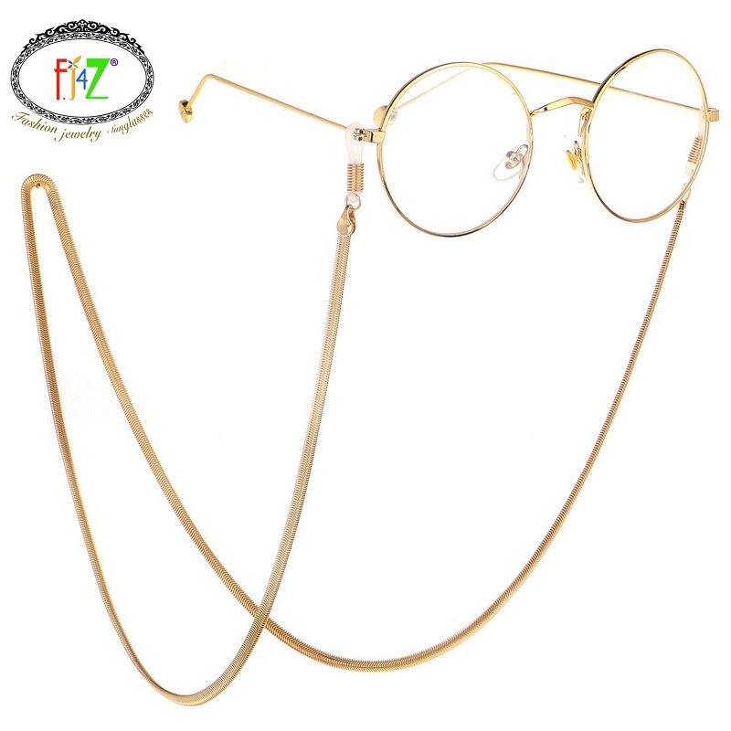 F.J4Z New Men's Glasses Chains Fashion Hip-Hop Golden Chain Sunglasses Holder Women Eyewear Straps Sun Glasses Accessories