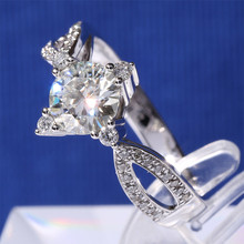 1 Carat ct F Color Anniversary Engagement Wedding Moissanit e Dia mond Ring Solid 14 K