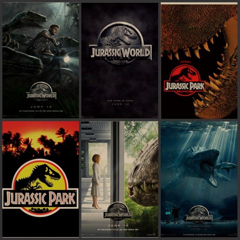 Jurassic park adornment dinosaur world movie posters retro posters adornment wall stickers in - Film de dinosaure jurassic park ...