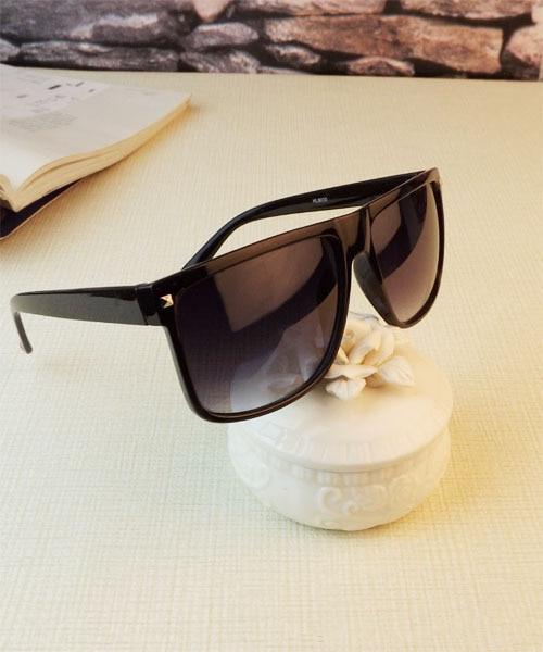 Retro Rivet Sunglasses Unisex Large Square Sun glasses UV400 Black Brown Color