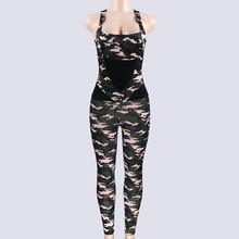 2019 Fitness Jumpsuit For Women Workout Clothes Strap Playsuit Excise Clothing Skinny Camo Camouflage Military Army