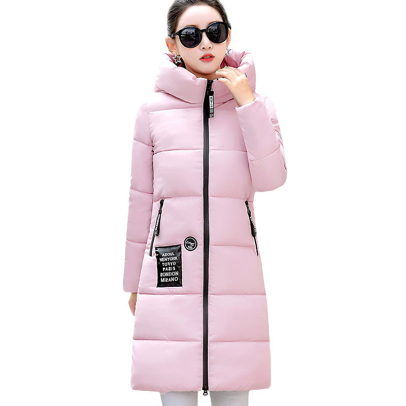 Women Winter Jacket Coat 2019 New Casual Warm Long Sleeve Ladies Basic Coat Feminina Jacket Women   Parkas   Down Cotton Jacket K588