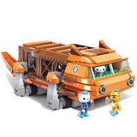 ENLIGHTEN Ideas Big Trout Boat Submarine Octonauts Cartoon Building Blocks Sets Bricks Model Classic Compatible Legoings duplo