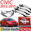 For Honda Civic 2012-2015 Chrome Door Handle Covers Trim Set for Hatchback Sedan Accessories Stickers Car-Styling 2012 2013 2014