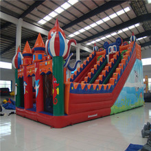 attractive inflatable slide playground inflatable trampoline bouncer YLW-185