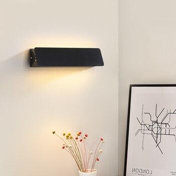 ブラックホワイト Led 壁のライト寝室のベッドサイド、リビングルーム階段通路ベッドサイドライト現代の壁の燭台のためのランプホーム