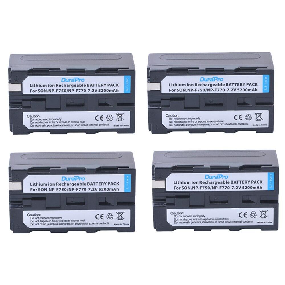 4pc 7.2V 5200mAH NP-F750 NP-F770 NP F750 NP F770 Li-ion Battery for Sony ccd-tr917 ccd-tr940 ccd-trv101 ccd-trv215 ccd-trv25