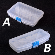 Fishing Box Multifunctional High Strength Plastic Fishing Lure Bait Hooks Tackle multi-Compartments Transparent Visible pesca