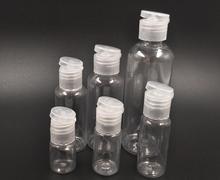 Frasco vacío de plástico transparente para maquillaje, frasco de plástico transparente para viaje, ahorre espacio, venta al por mayor, 100 unids/lote
