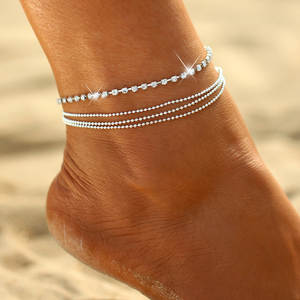NAIQUBE Gold Anklet Bracelet on The Leg Foot Jewelry