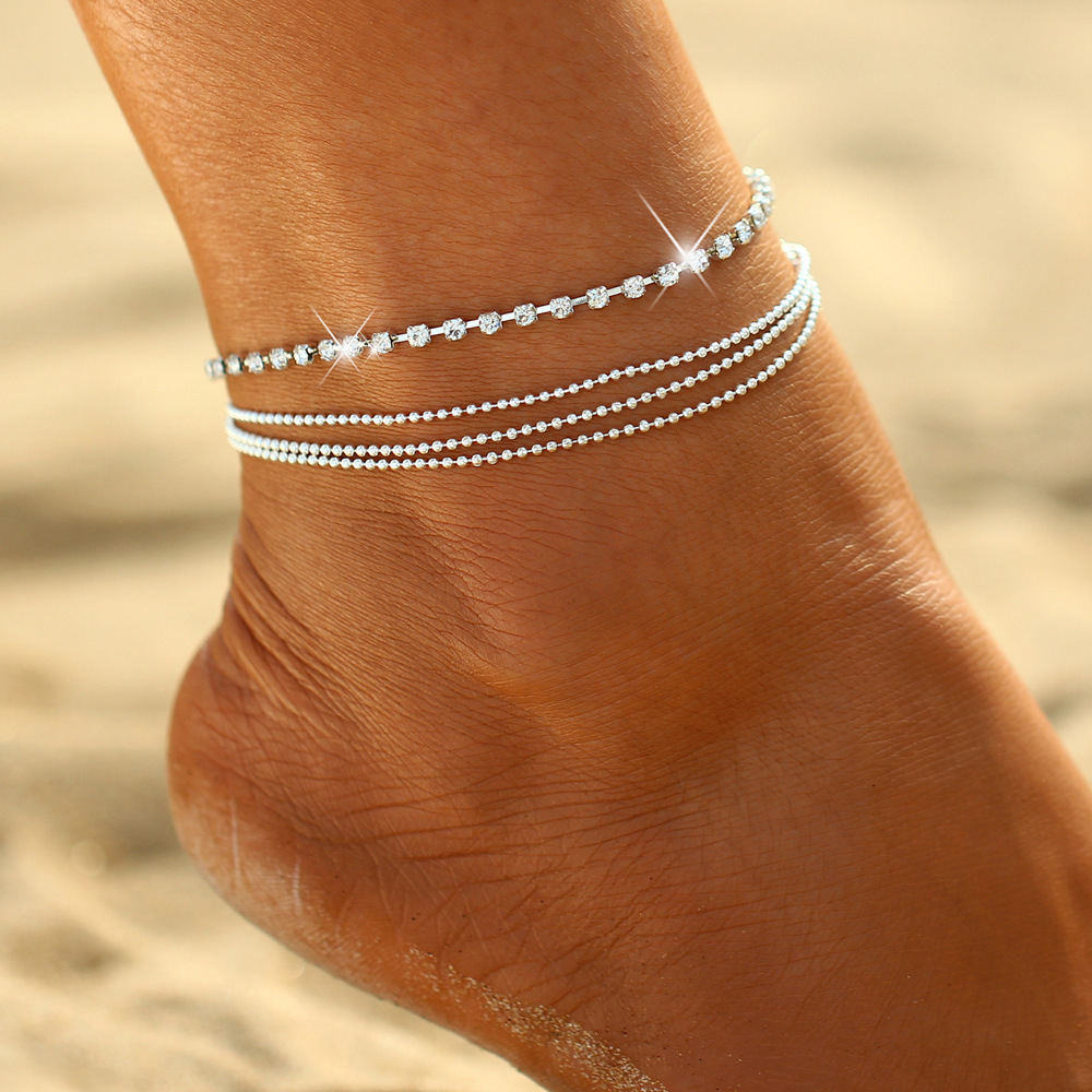 Goud Zilver Kleur moda praia Enkelbandje Armband op De Been 2018 Mode Zomer Strand Voet Sieraden Tobilleras De Plata Para mujer
