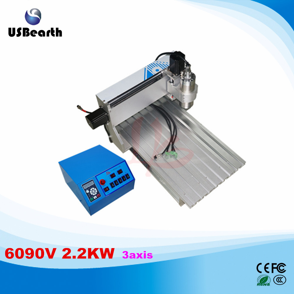 Russia tax free 6090 cnc 2.2KW water-cooling spindle CNC engraver CNC milling machine