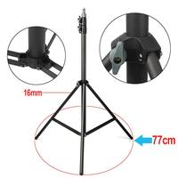 2pcs Eachshot 200cm 2m Light Stand Tripod With 1 4 Screw Head With Camera Tripod Lamp