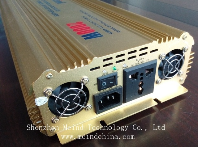 Hot Selling Pure Sine Wave Built-In Charger DC 12V to AC 220V Continuous 2000W Peak 4000 Watt Universal Socket Power Inverter
