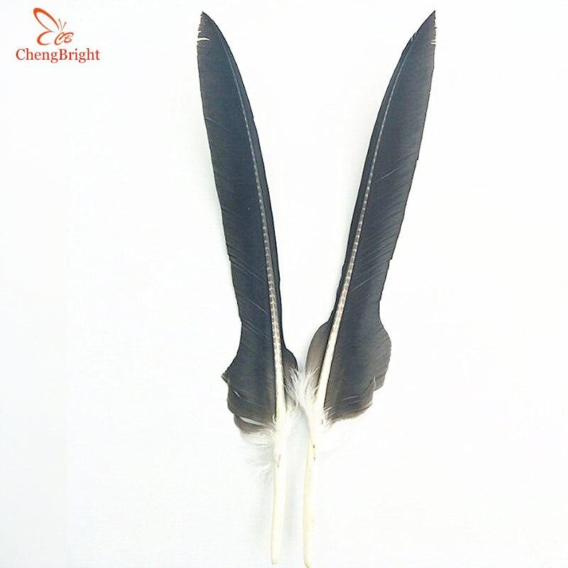 Ev ve Bahçe'ten Tüy'de ChengBright Toptan 50 adet Doğal Uzun Kartal Tüyleri 50 60 cm/20 24 inç Düğün Tüy Çift Taraflı simetri El Sanatları Tüy DIY'da  Grup 1