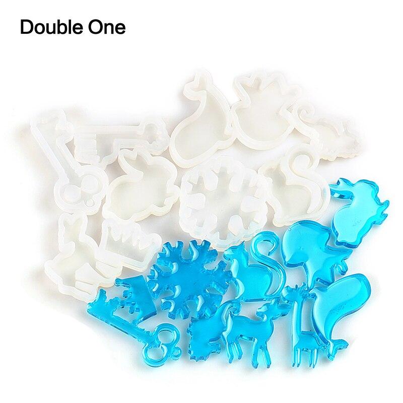 Купить 10 шт/компл форма для животных силиконовая смола кит белка медузы