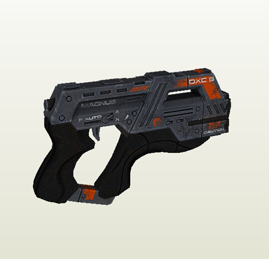 Mass Effect 3 M 6 Pistol 1 1 Scale Paper Model 3D Handmade DIY Children Toy