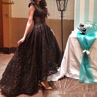 2019 Custom Made Sexy Jewel Neck Prom Dresses A Line Sleeveless Mature Girls Lace Party Evening Dresses Prom Gowns