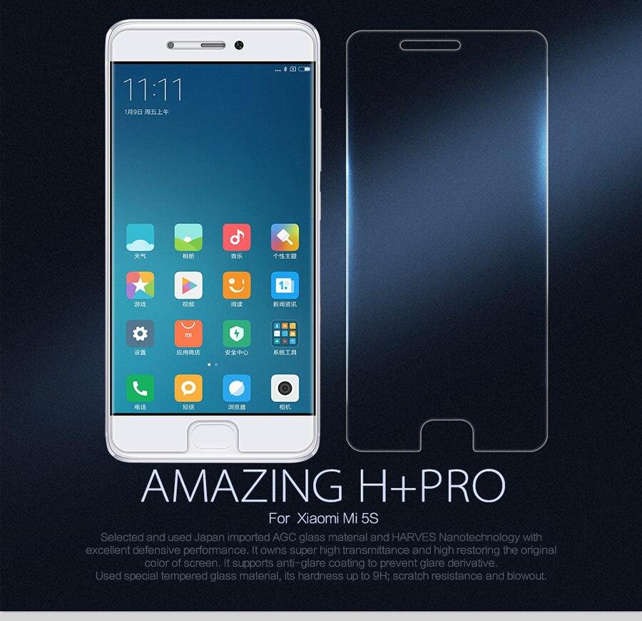 Nillkin Trempé Verre Film pour Xiaomi Mi5S Incroyable H + Pro Nano Anti-Explosion 9 H dur De Protection Écran protecteur