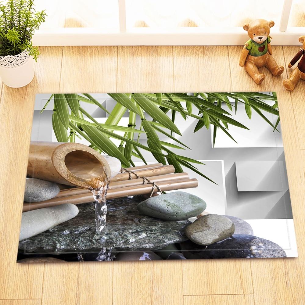 LB 60*40 Asian Spa Stone Water Flow Zen Garden Bamboo