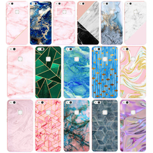 64G Pink Blue Ink Marble for Huawei P10 lite Case Cover Soft