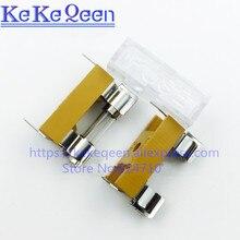 10pcs/lot 6*30mm fuse glass tube fuse base 6x30mm insurance pipe box fuse
