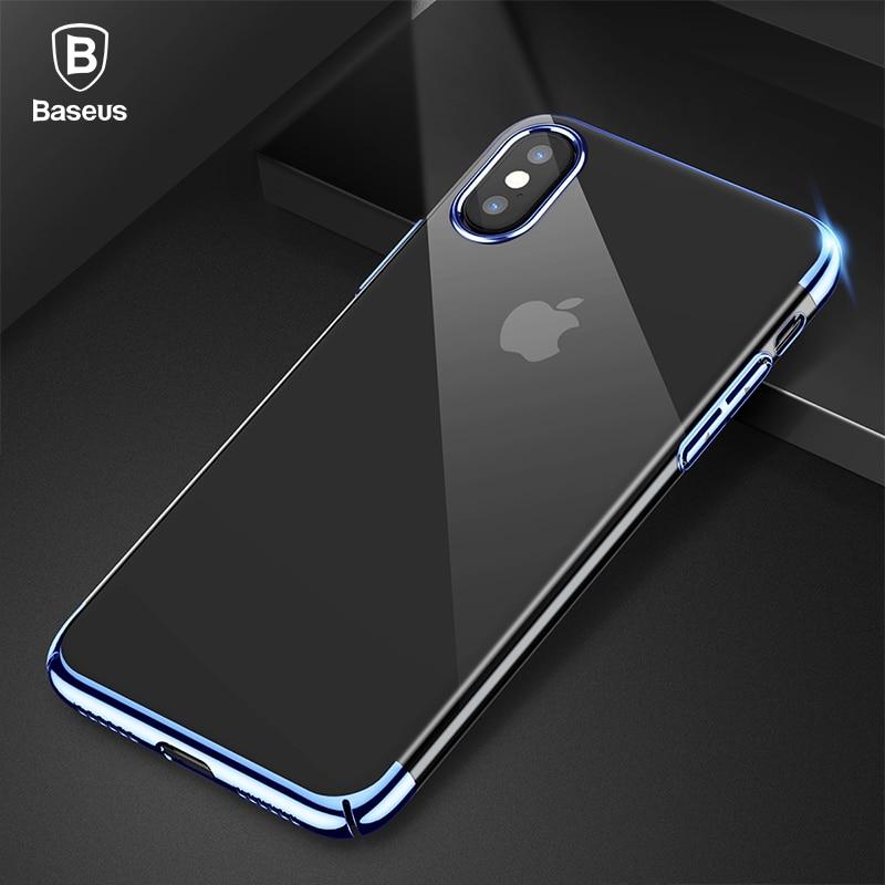 Baseus Luxuxüberzug Fall Für iPhone X 10 Capinhas Ultradünne galvanotechnik Hard PC Rückseite Fall Für iPhone X Shell Coque